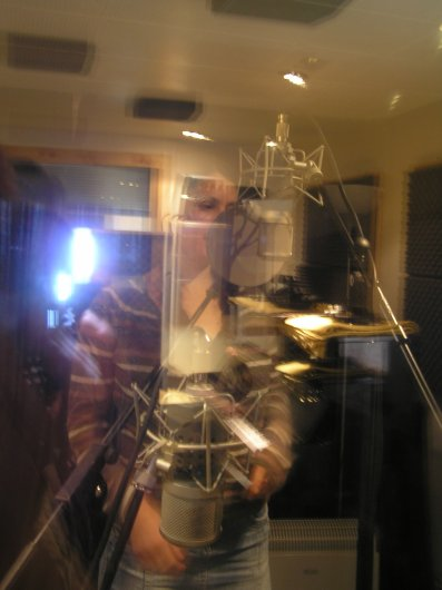 Andi in the booth