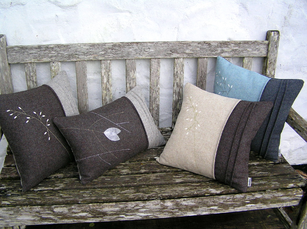 Cushions on the scabby seat.