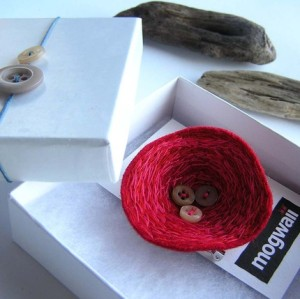 Rasberry Nest brooch