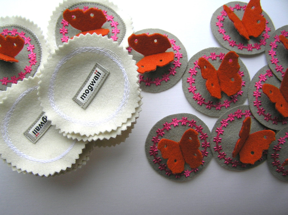 Butterfly pin cushion bits, still need sewing together and lavender stuffing.