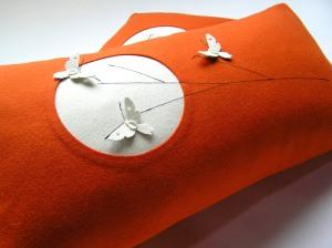 Moth Moon in orange