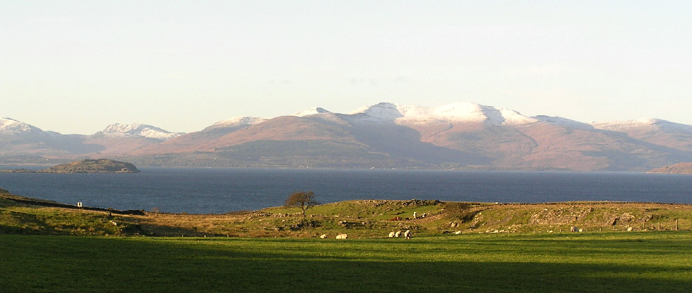 Snow capped Mull this morning.