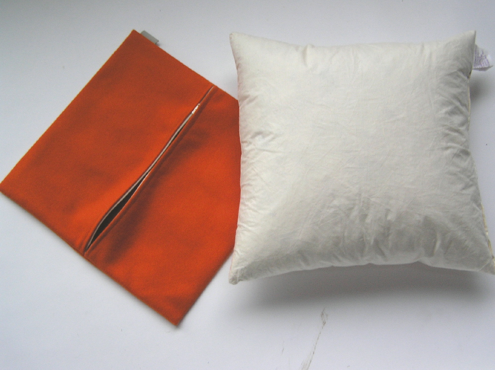 Cushion cover and pad (Pillow cover and insert)